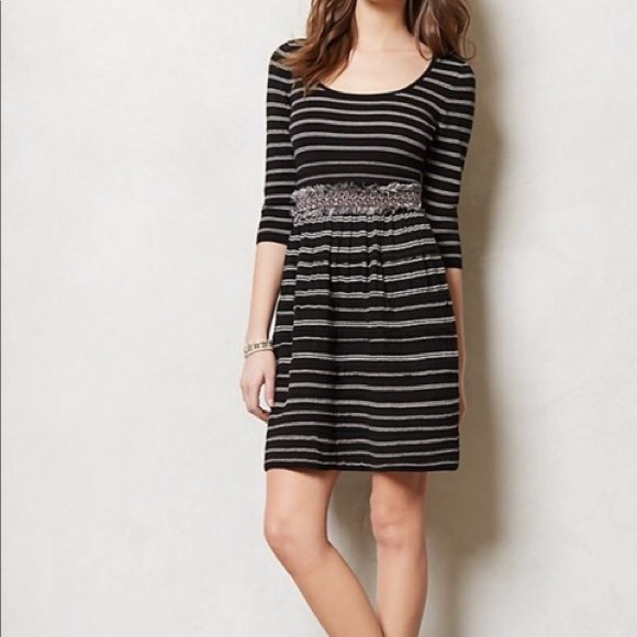 Anthropologie Dresses & Skirts - Anthropologie Knitted and Knotted B/W Dress